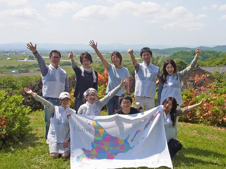 「真夏の北海道マルシェinヒルズマルシェ」農家フィールドワーク参加メンバーの一部